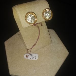 Jewelry - Small Circle Stone Clip On Earrings